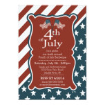 Patriotic Stars & Stripe 4th of July Party 13 Cm X 18 Cm Invitation Card