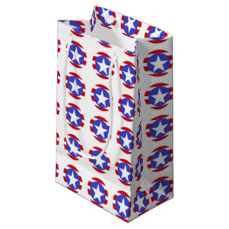 Patriotic Stars, Stripes and Circles Small Gift Bag