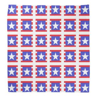 Patriotic Stars, Stripes and Squares Bandana