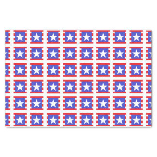 Patriotic Stars, Stripes and Squares Tissue Paper