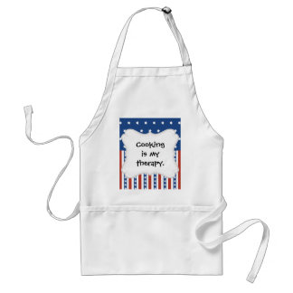 Patriotic Stars Stripes Freedom Flag 4th of July Adult Apron