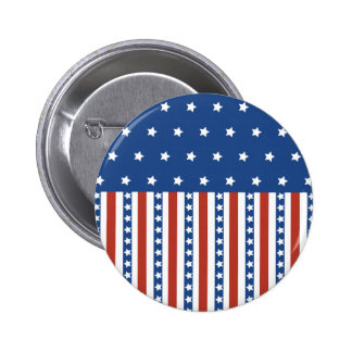 Patriotic Stars Stripes Freedom Flag 4th of July Button