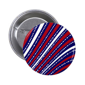 Patriotic Stars Stripes Freedom Flag 4th of July Pin