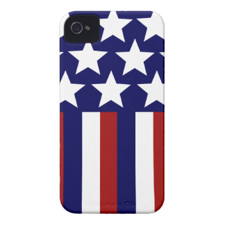 Patriotic Stars Stripes Freedom Flag 4th of July iPhone 4 Cases