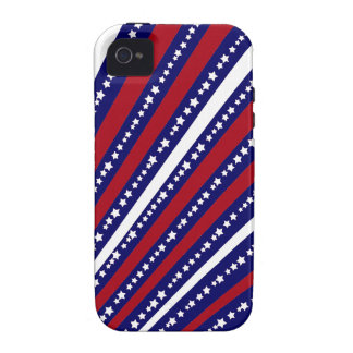 Patriotic Stars Stripes Freedom Flag 4th of July Vibe iPhone 4 Case