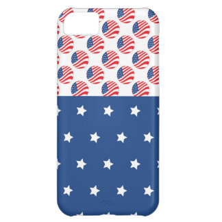 Patriotic Stars Stripes Freedom Flag 4th of July iPhone 5C Case