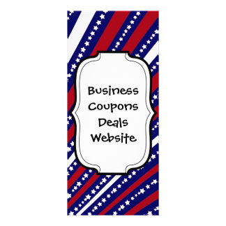Patriotic Stars Stripes Freedom Flag 4th of July Customized Rack Card
