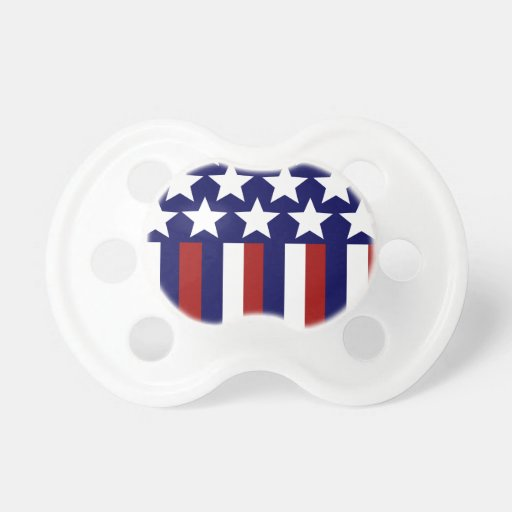 Patriotic Stars Stripes Freedom Flag 4th of July Pacifier