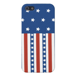 Patriotic Stars Stripes Freedom Flag 4th of July iPhone 5 Cases