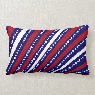 Patriotic Stars Stripes Freedom Flag 4th of July Lumbar Cushion