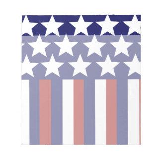Patriotic Stars Stripes Freedom Flag 4th of July Scratch Pad