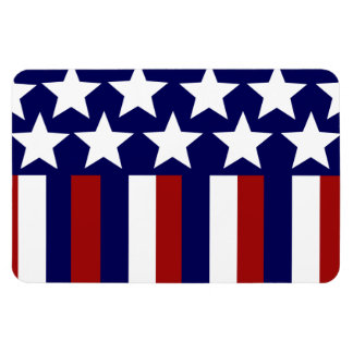 Patriotic Stars Stripes Freedom Flag 4th of July Magnet