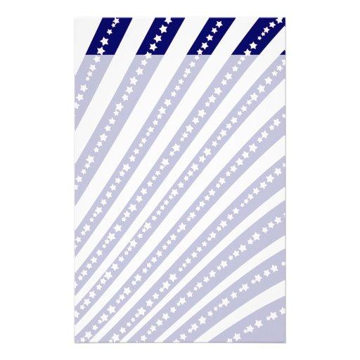 Patriotic Stars Stripes Freedom Flag 4th of July Custom Stationery