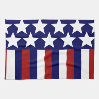Patriotic Stars Stripes Freedom Flag 4th of July Tea Towel