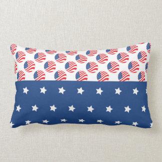 Patriotic Stars Stripes Freedom Flag 4th of July Throw Cushion
