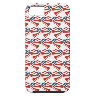 Patriotic Stars Stripes Freedom Flag Hearts 4th of iPhone 5 Case