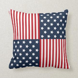 Patriotic Stars & Stripes Red White Blue Pillow