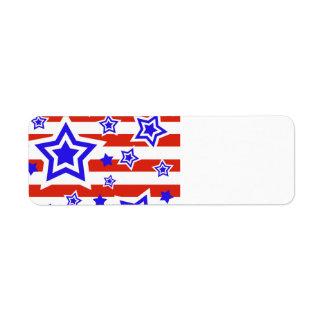 Patriotic Stars & Stripes Return Address Label