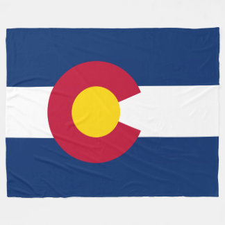 Patriotic State Flag of Colorado Fleece Blanket