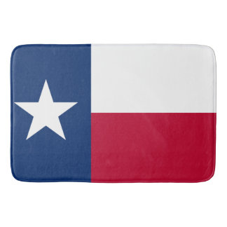 Patriotic State Flag of Texas Bath Mats