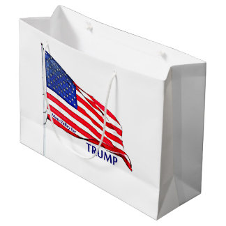 Patriotic Stationary Large Gift Bag