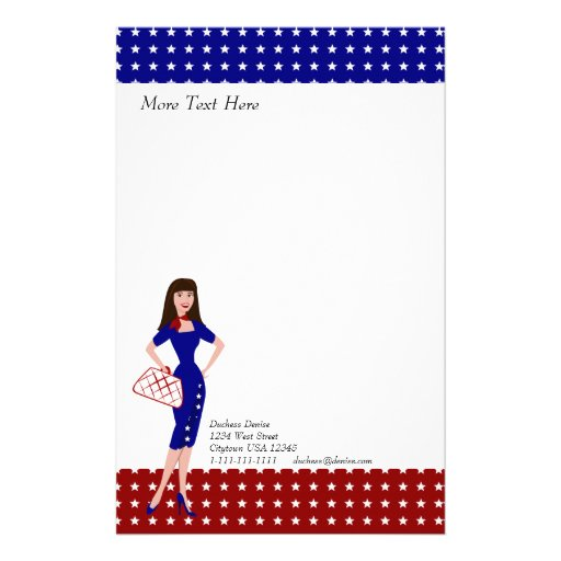 Patriotic Personalized Stationery