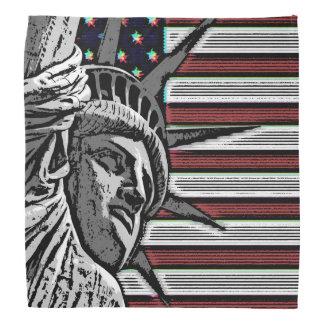 Patriotic Statue of Liberty Head Kerchiefs
