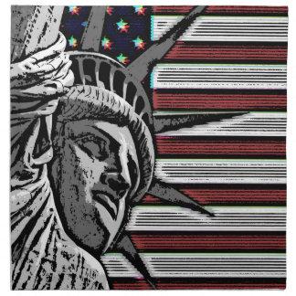 Patriotic Statue of Liberty Napkin