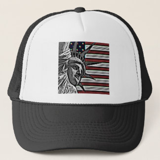 Patriotic Statue of Liberty Trucker Hat