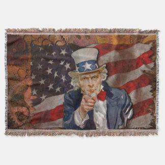 Patriotic Steampunk Sam & US Flag