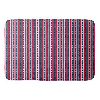 Patriotic Stripes, American flag bath mat Bath Mats