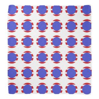 Patriotic Stripes and Polka Dots Bandana