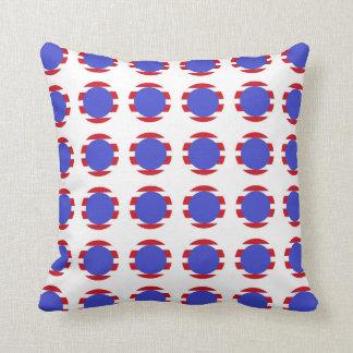 Patriotic Stripes and Polka Dots Cushion