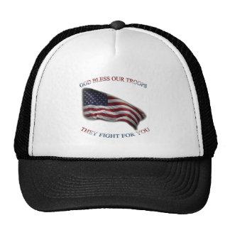 patriotic support troops cap