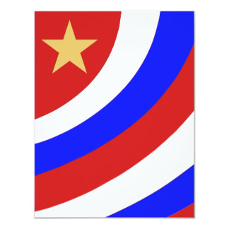 patriotic swoop with gold star 11 cm x 14 cm invitation card