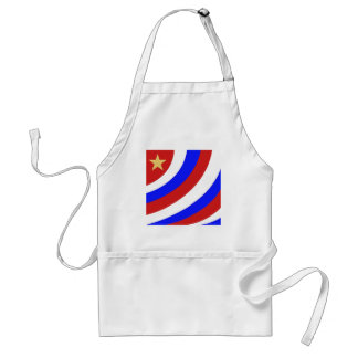 patriotic swoop with gold star aprons