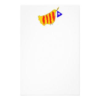 patriotic Symbol Catalonia freedom dove Catalunya Stationery Paper