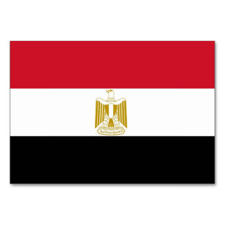 Patriotic table card with Flag of Egypt