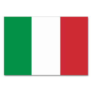 Patriotic table card with Flag of Italy