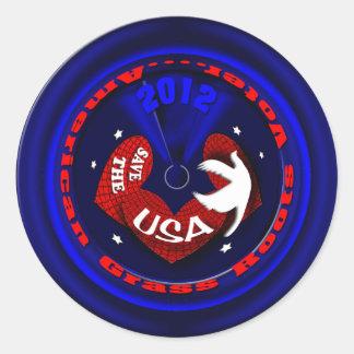 Patriotic tea party USA Round Sticker