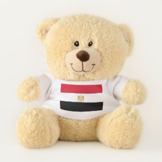 Patriotic Teddy Bear flag of Egypt