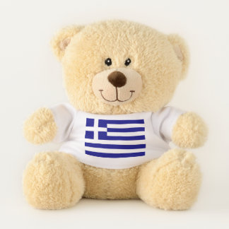 Patriotic Teddy Bear flag of Greece
