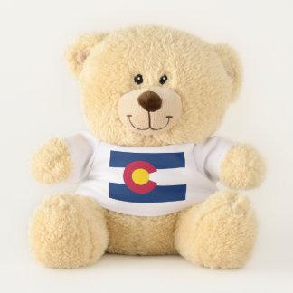 Patriotic Teddy Bear with flag of Colorado