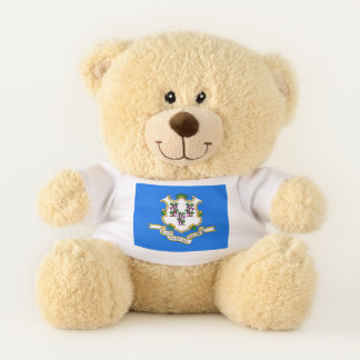 Patriotic Teddy Bear with flag of Connecticut