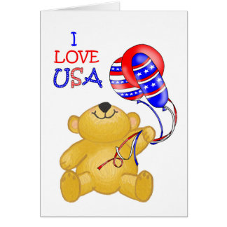 Patriotic Teddy Card