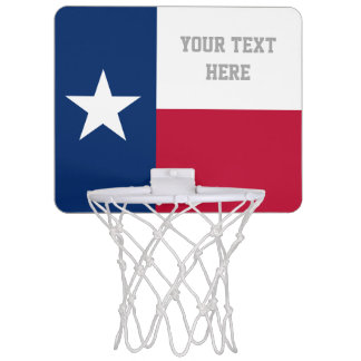 Patriotic Texan flag of Texas custom Mini Basketball Hoop