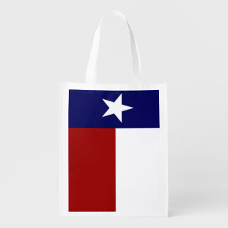 Patriotic Texas Flag Grocery Bags