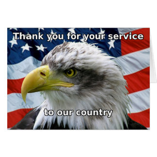 Patriotic Thank you for your service Card