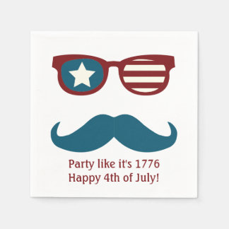 Patriotic Themed Napkins for Fourth of July Party Disposable Napkin