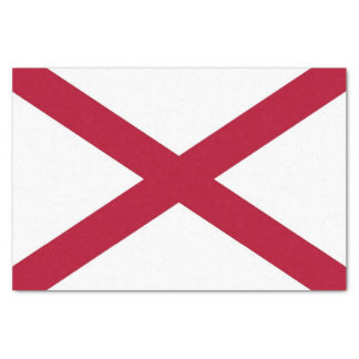 Patriotic tissue paper with flag of Alabama,U.S.A.